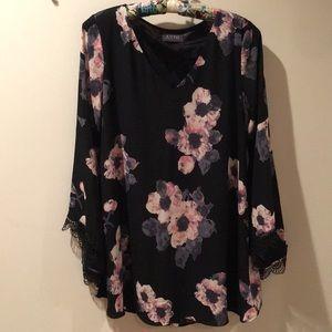 ASTR @ Nordstrom floral shift dress flutter sleeve